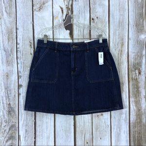 Old Navy Cargo Pocket Denim Mini Skirt